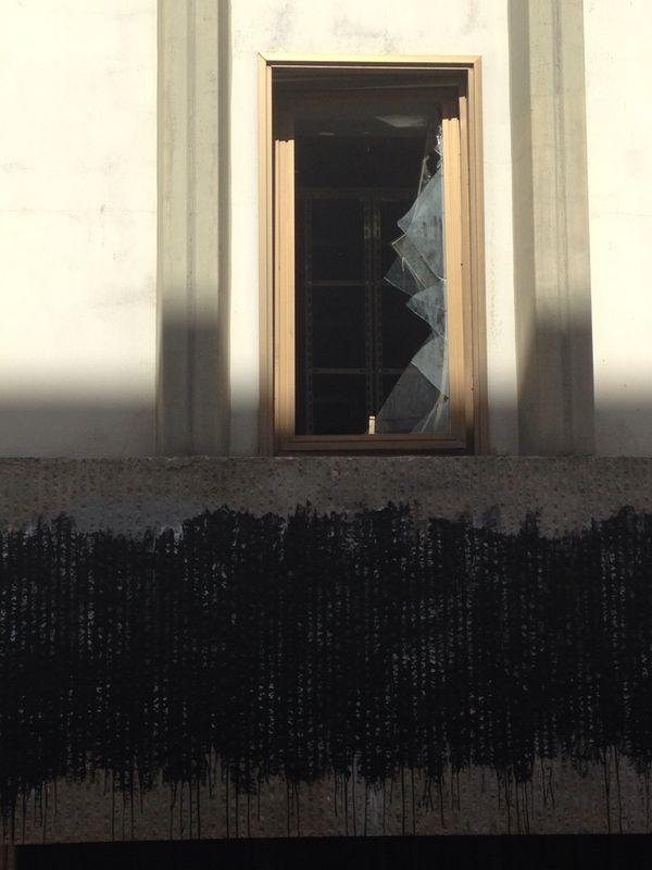 atti vandalici al palazzo ex AQP